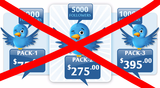 do not buy twitter followers